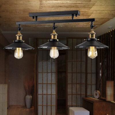 3 Light Black Island Hanging Pendant Table Lamp Ceiling Fixture Lighting