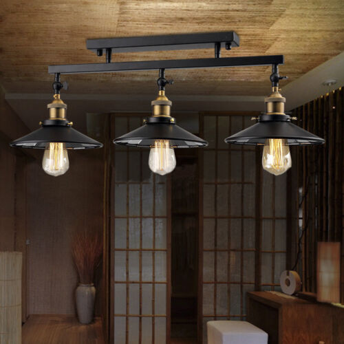 Details about 3 Light Black Island Hanging Pendant Table Lamp Ceiling  Fixture Lighting Kitchen