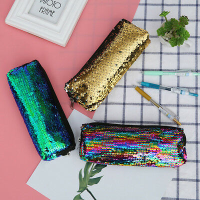 Glitter Sequins Pencil Case Laser Cosmetic Bag Zipper Women Handbag Fashion New