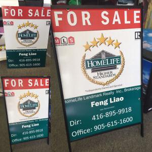 Real Estate Signs post & Metal Frame,Crane Sign ,Sandwich Boards