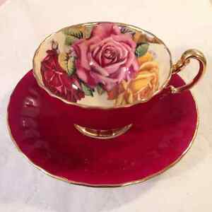 BUYING VINTAGE TEA CUPS & SAUCERS..PARAGON..AYNSLEY & SHELLEY