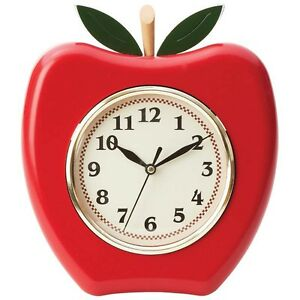 Apple Kitchen Clock | eBay