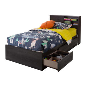 3-Drawer Bed with Storage With Headboard (Brand New)$225