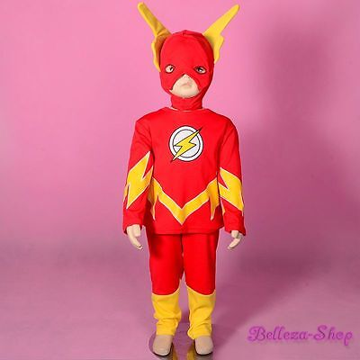 Superhero The Flash Fancy Costume Mask Outfit Halloween Party Toddler 3T-4T #032 - Cheap Infant Toddler Halloween Costumes