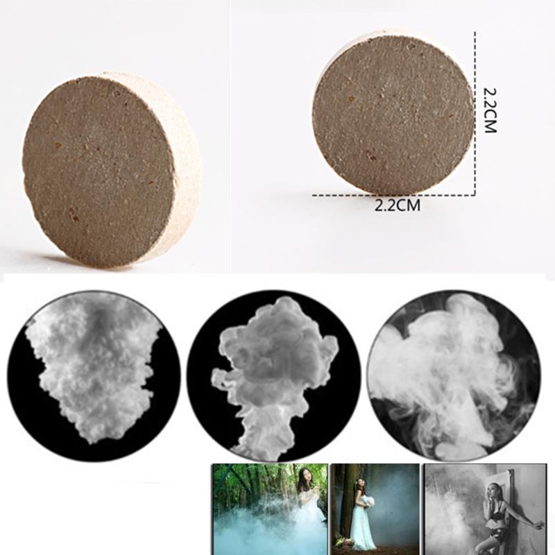 10Pcs Smoke Cake White Smoke Effect Show Round Bomb Stage Photography Aid Toy