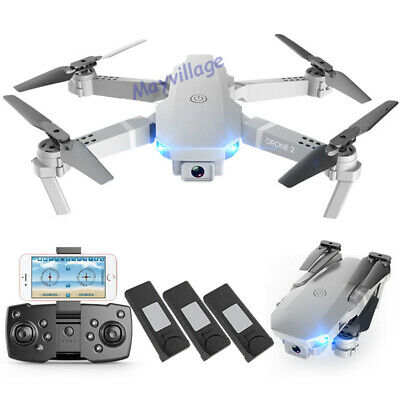 FPV Wifi RC Drone Off the target Angle HD 4K Camera Foldable Quadcopter Selfie + 3 Battery
