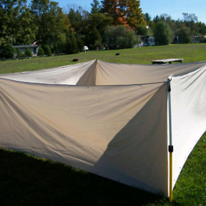Temporary dog fence, barrier, banner, duck pond, camping, rv