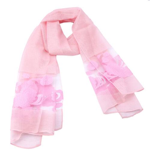 New Arrivals Women Flower Lace Warm Winter Neck Scarf Soft Wrap Shawl Stole CB