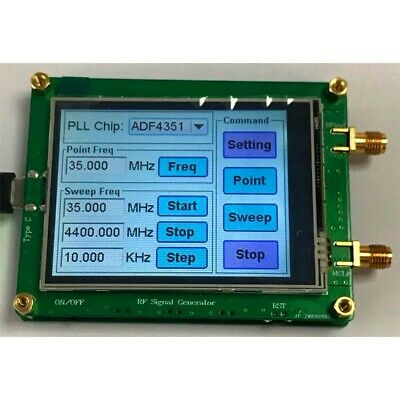 Adf4350 Rf Signal Generator W Touch Screen Spot Frequency Sweep Frequency Xr-