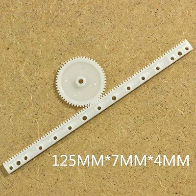 20 Pcs X Gear Rack 0.5 Modulus Plastic Rack Pinion Drive Rod Diy Parts