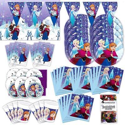 Anna und Elsa Frozen Snowflakes Partybox 57-teilig original Deko Frozenparty ()