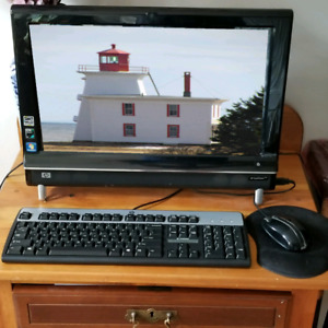 HP all in one computer and keyboard