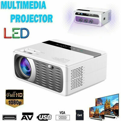 LED 5000 Lumens Full HD 1080p Video Home Theater Projector AV HDMI USB VGA SD UK