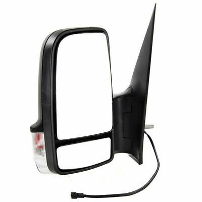 VW Crafter 2006-2018 Manual Short Arm Wing Door Mirror Black Passenger Side