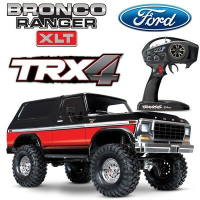 NEW Traxxas TRX-4 Ford Bronco Trail RC 4x4 Scale Rock Crawler Truck w/RED BODY
