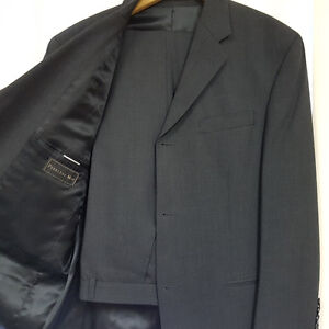 Men's Peerless Charcoal Grey 2-Pc Wool Suit/Costume-Sz 38R (N4)