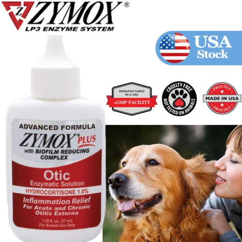 1.25oz, Zy-mox Plus Advanced Formula 1% Hydrocortisone Otic Dog&Cat Ear Solution