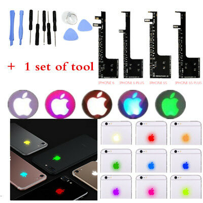 6s6 Led (LED LOGO light Night Glow Logo Touchable 7 Colors For Iphone 6 6s 6Plus 6s)