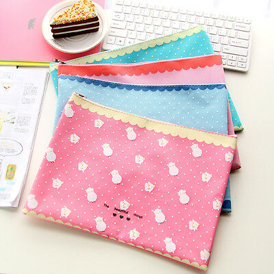 Cute A4 A5 B6 File Folder Book Case Document Organizer Paper Bag Cartoon Animal