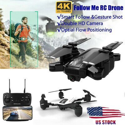 HR WiFi FPV RC Drones with 4K HD Camera Aircraft Quadcopter Go Me Foldable