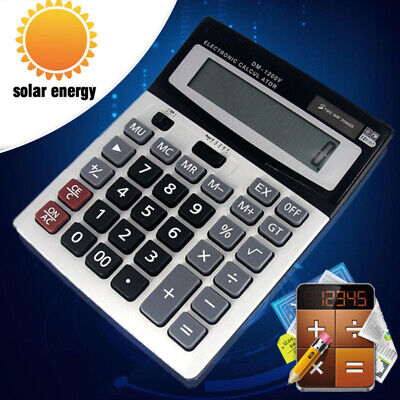Large Buttons Calculator Batterysolar Power For Schoolofficehome Durable