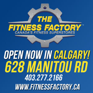 GRAND OPENING! Fitness Factory Calgary! Fitness Equipment Sale
