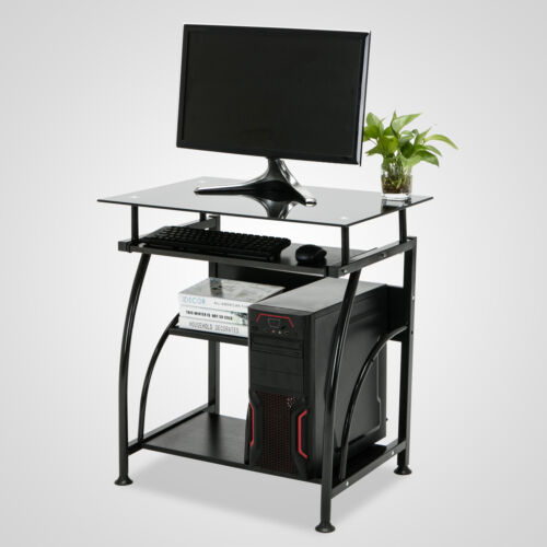 Black Home Office Computer Desk PC Corner Laptop Table Workstation Study Room