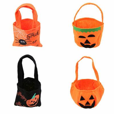 Candy Treat Bag Jack O-lantern - Funny Halloween Pumpkin Bag Jack O lantern Candy Gift Basket Treat or Trick Bag