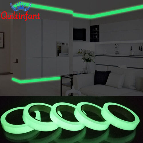 Home Decoration - Glow In The Dark Luminous Fluorescent Night Self-adhesive Safety Sticker Tape 3M