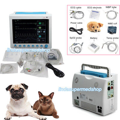 6 Parametrer Vital Signs Patient Monitor Vet Veterinary Big Screen Cms8000 New