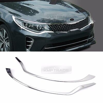 Chrome Front Head Lamp Garnish Cover Trim Molding for KIA 2016 - 2018 Optima K5