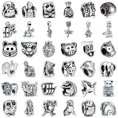 - 925 Fashion European Sterling Animal Cz Silver Charm Bead for Charms Bracelet