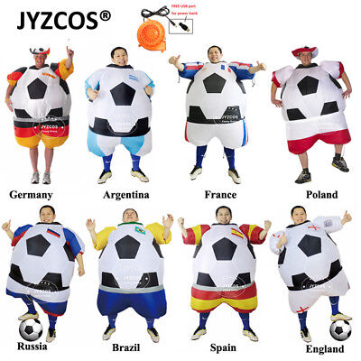 Adults Football Player Inflatable Costumes Soccer Fancy Dress Carnival