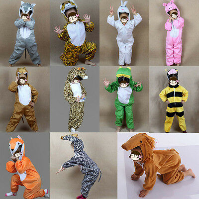 Pig Costume For Boy (Boy Girl Kids Animal Costume Rabbit Pig Tiger Zebra Fox Wolf Frog Horse Cosplay)