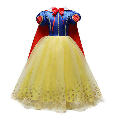 Childrens Halloween Fancy Dress (Snow White Costume Princess Dress Kids Girls Halloween Party Cosplay Fancy)