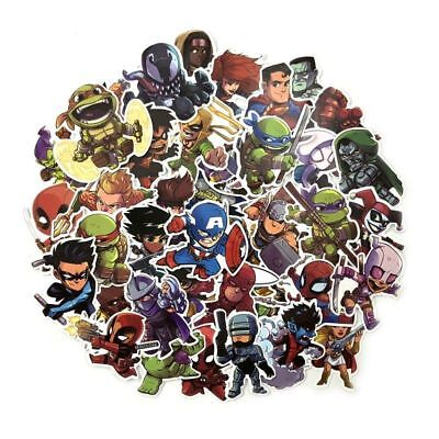 Lodge Themed Home Decor 50 Pcs/Lot Stickers Avengers Super Hero  For Car Laptop Luggage Skatboard Decal Home Decor Catalog Sales