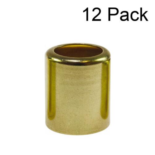 12 each - 3/8 Welding Hose Brass Ferrules .687 ID, # 7329