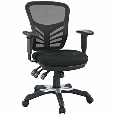 Pemberly Row Mesh Back Office Swivel Chair In Black