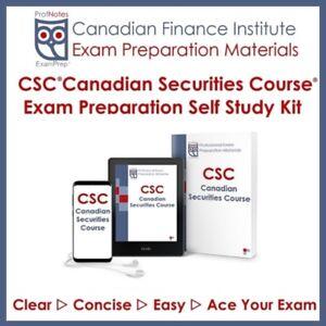 CSC (Canadian Securities Course) Exam Textbook