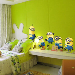 55*55cm Despicable Me Wall Stickers Yellow Minion Vinyl Decal