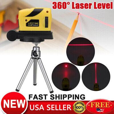 Level Leveler (3D Laser Level Self Leveling Point/Line/Cross Horizontal Vertical 360 ° + Tripod )