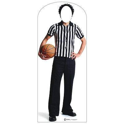 BASKETBALL REFEREE Lifesize STAND-IN CARDBOARD CUTOUT Standin Standup Standee - Basketball Cardboard Cutouts