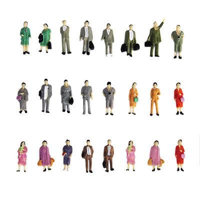 50pcs HO Scale 1:87 Mix Painted Model Train Park Passenger People Figures A33Z
