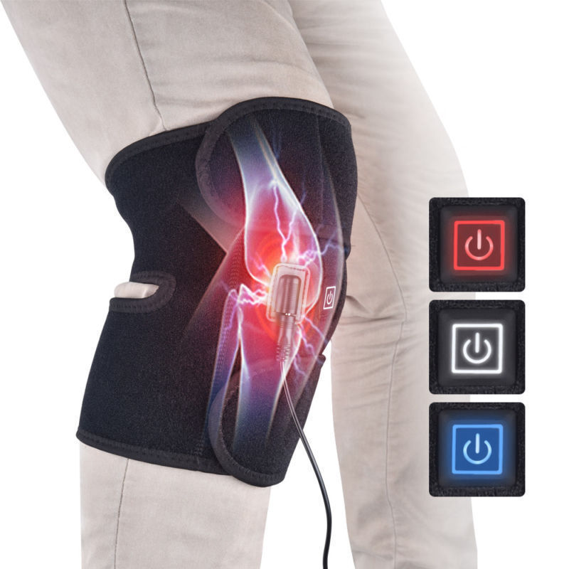 Electric Thermal Knee Heating Pad Arthritis Therapy Wrap