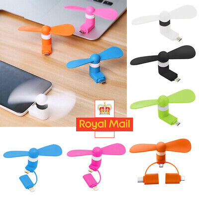 Mini Portable Power Micro Cool Fan For IPhone Android Phone Tablet C Micro USB
