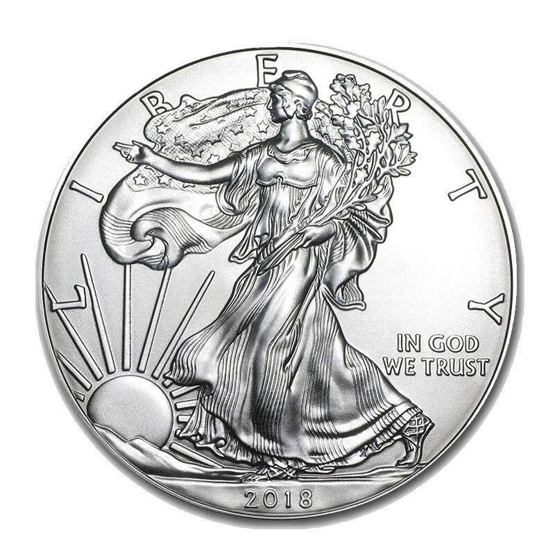 Silver 2018 American Eagle 1 oz. Coin - .999 fine silver American Eagles 1oz