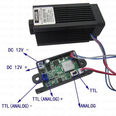 Focusable Analog Ttl 5.5w 5500mw 450nm Blue Laser Module Engrave Cutter