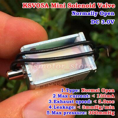 Dc 3v Mini Electric Solenoid Valve No Normally Open Gas Air Valve Sphygmometer