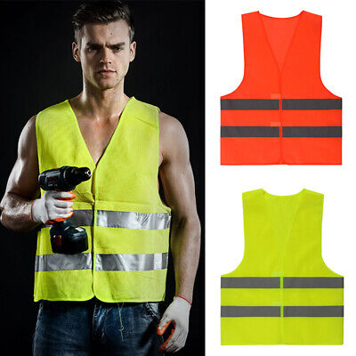 Protective Safety-Vest Reflective Gear Jacket-Security Waistcoat High Visibility