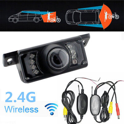 12V Car 2.4G Wireless Reverse Rear View Backup Camera Night Vision Parking Kit
